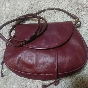 Vintage leather crossbody
